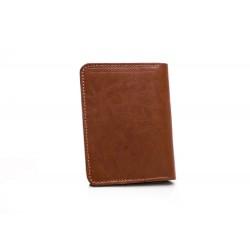Nowoczesny, cienki portfel męski z dodatkowym miejscem na monety. Wykonany z najwyższej jakości skóry naturalnej. -
