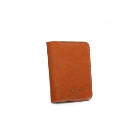 Stylowy portfel o zgrabnym fasonie wykonany ze skóry naturalnej -