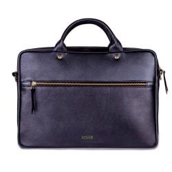 Klasyczna, kompaktowa torba na ramię i do ręki z miejscem na laptopa. -