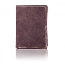 Funkcjonalny elegancki portfel męski wykonany z skóry naturalnej bez zapięcia. Znajdziesz w nim miejsce na bilon, karty