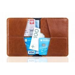 Nowoczesny, cienki, męski portfel wykonany z najwyższej jakości skóry naturalnej. -