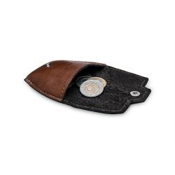 Skórzana bilonówka - męski portfel na monety SA10 - jeżeli masz już cienki portfel na karty i banknoty to możesz mieć cz