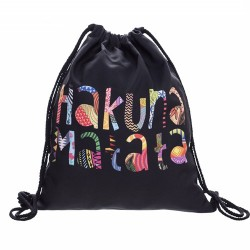 Absolutny hit tego lata - materiałowy plecak damski na sznurkach z kolorowym nadrukiem! -