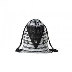 Absolutny hit tego lata - materiałowy plecak damski na sznurkach z wzorem azteckim! -