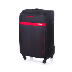 Duża walizka miękka Solier -