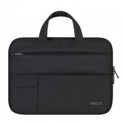Nowoczesna lekka i wytrzymała torba na laptopa w kolorze czarnym. -