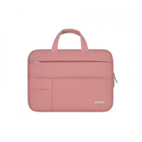 048b3e7c2ad Nowoczesna lekka i wytrzymała torba na laptopa w kolorze różowa. -