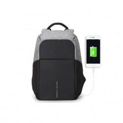 Czarny nowoczesny i pojemny plecak męski na laptopa i do pracy. Zmieścisz w nim laptopa i wszystkie dokumenty do pracy.