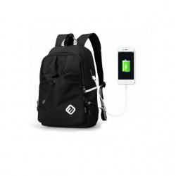 Czarny męski plecak sportowy, idealny na wycieczkę i długie spacer. Wodoodporny i wytrzymały ochroni Twój laptop o rozmi