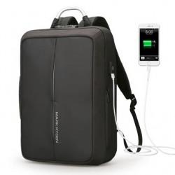 Minimalistyczny, wytrzymały i zabezpieczony zamkiem TSA plecak męski,który idealnie nada się do pracy. Kolor czarny z k