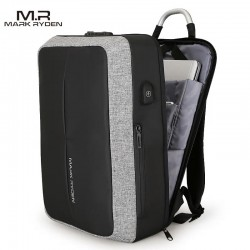 Minimalistyczny, wytrzymały i zabezpieczony zamkiem TSA plecak męski,który idealnie nada się do pracy. Kolorszary z ka