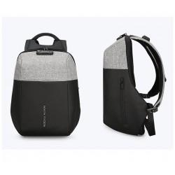 Pojemny i lekki plecak męski w kolorze szarym. Idealny do pracy i podróży biznesowej. Posiada zamek TSA i wzmocnioną kon
