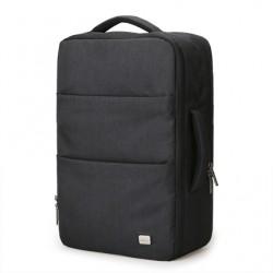Plecak męski na laptopa z możliwością ładowania telefonu za pomocą zewnętrznego portu USB. Nowoczesny styl i kolor czarn