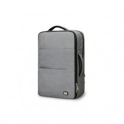 Plecak męski na laptopa z możliwością ładowania telefonu za pomocą zewnętrznego portu USB. Nowoczesny styl i kolorszary