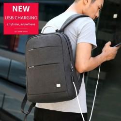 Wyjątkowy plecak męski na laptopa 15.6 cali, cienki lekki i do tego bardzo pojemny. Kolorczarny z dwoma komorami. -