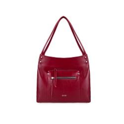Skórzana torba damska shopper Vitoria FL18 bordowa