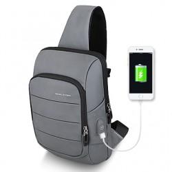 Szaryna co dzieńplecak na jedno ramię, który pomoże przenieść Ci w mieście portfel telefon i klucze nie wypychając kie