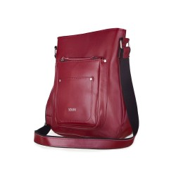 Skórzana torba damska lstonoszka Parla FL21 bordowa