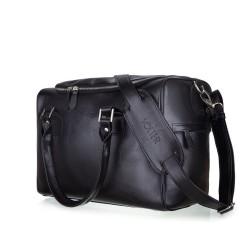 Skórzana torba weekendowa Dratford SL27 czarna