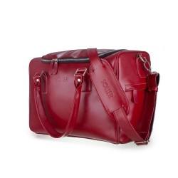 Skórzana torba weekendowa Dratford SL27 burgundowa