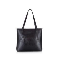 Skórzana torba damska Parma FL23 czarna