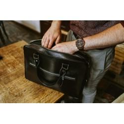Skórzana torba na laptop z uchwytem na walizkę SL23