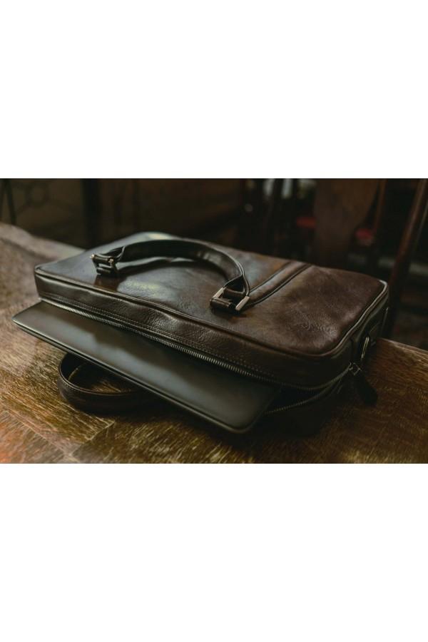 Skórzana męska elegancka torba na laptopa SL25
