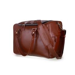 Skórzana torba weekendowa Dratford SL27 brązowa vintage