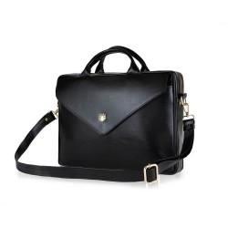 Skórzana damska torba na laptopa FL15 Positano czarna
