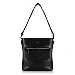 Skórzana torba damska Perea FL20 czarna