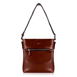 Skórzana torba damska Perea FL20 brązowa vintage