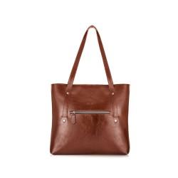 Skórzana torba damska Parma FL23 vinatage brown