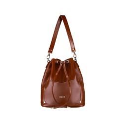 Skórzana torba damska listonoszka Nea FL19 brązowa vintage