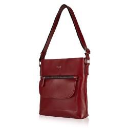 Skórzana torba damska Perea FL20 bordowa