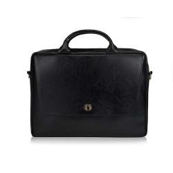 Skórzana torba na laptopa FL14 Rimini czarna