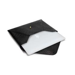 Skórzany damski pokrowiec na laptopa 13,3 cala Solier SA25 Czarny Wąż