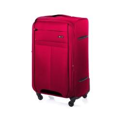 Duża walizka miękka XL Solier STL1311 czerwono-czarna