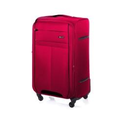 Duża walizka miękka L Solier STL1311 czerwono-czarna