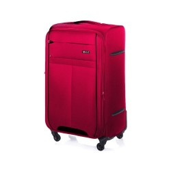 Średnia walizka miękka M Solier STL1311 czerwono-czarna