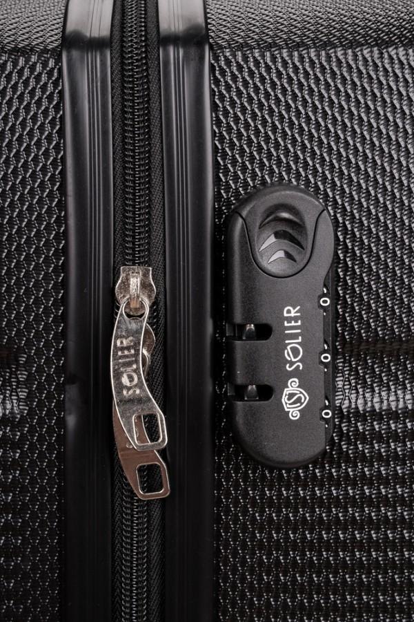 Walizka podróżna twarda średnia STL945 czarna
