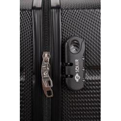Walizka podróżna mała ABS STL902 ciemny szary