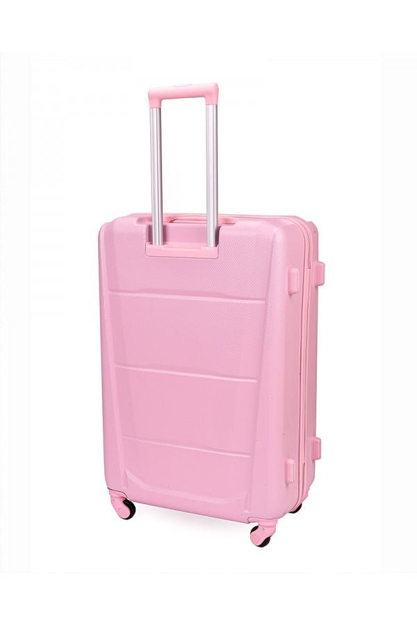 Walizka podróżna twarda duża STL946 różowa