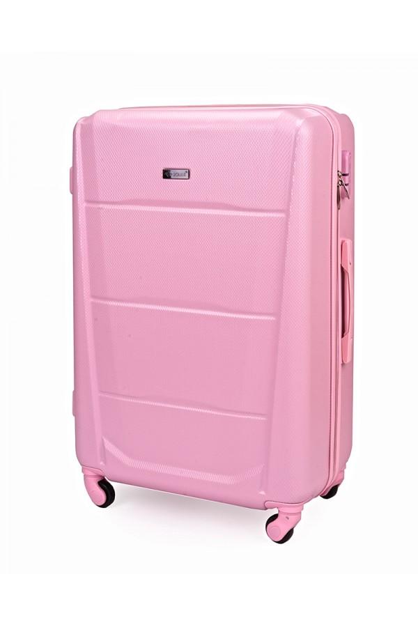 Walizka podróżna twarda średnia STL946 różowa