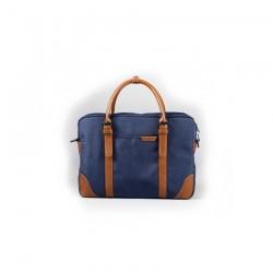 Męskagranatowa torba idealna do pracy lub studia. Zmieścisz w niej laptopa do 15.6cali lub podręczniki i zeszyty. Bardz