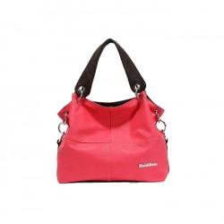 Klasycznaskórzana torba damska na ramię lub do ręki wróżowym kolorze. -